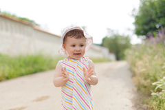 Girl Clapping Hands Royalty Free Stock Images