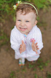 Girl Clapping Hands Royalty Free Stock Image