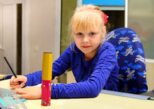 Girl in Class Primary School Stock Photography