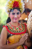 Girl during a classic national Balinese Royalty Free Stock Image