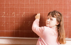 Girl in classroom Royalty Free Stock Photos