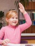 Girl in classroom Royalty Free Stock Photos