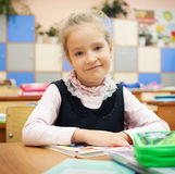 Girl at classroom Royalty Free Stock Photos