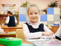 Girl at classroom Stock Photo