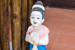 Girl clay thailand Royalty Free Stock Photo