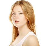 Girl with clean skin on pretty face Royalty Free Stock Photo