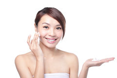 girl with clean skin on pretty face Stock Photography