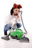 Girl Cleaner. Royalty Free Stock Photography
