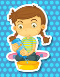 Girl cleaning Stock Photography
