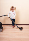 Girl Cleaning Royalty Free Stock Images