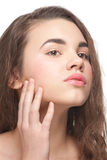 Girl with clear healthy skin Stock Photos
