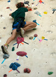 Girl on climb wall Royalty Free Stock Photos