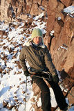 Girl Climber Stock Photo