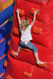 Girl Climbing Royalty Free Stock Photo