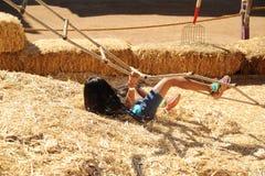 Girl climbing Stock Photography