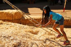 Girl climbing Stock Photos