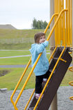 Girl Climbing Stairs Royalty Free Stock Photos