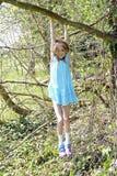 Girl climbing on tree Royalty Free Stock Photos