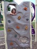 Girl Climbing stock photo
