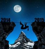 Girl climbs into the New Year 2015 Stock Photos