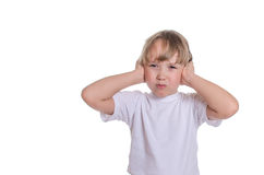 The girl closed hands ears Royalty Free Stock Photo