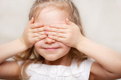 Girl closed her eyes Stock Images