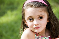Girl Closeup. Closeup portrait of a young beautiful girl Stock Photography