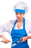 Girl in clothes cook Stock Photo