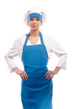 Girl in clothes cook Stock Images