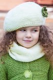 Girl in clothes hand knitted Royalty Free Stock Photography