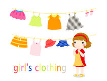 Girl and clothes Royalty Free Stock Image
