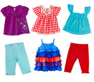 Girl clothes isolated on white. Royalty Free Stock Images