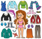 Girl and clothes theme set 2 Royalty Free Stock Photos