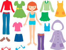 Girl with clothes Royalty Free Stock Image