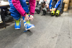 Girl clothing snowboard Stock Photo