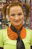 Girl clown Royalty Free Stock Image