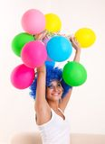 Girl clown. Stock Images