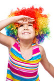 Girl in clown Stock Images