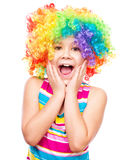 Girl in clown Royalty Free Stock Photography