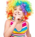 Girl in clown Stock Photo
