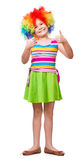 Girl in clown Royalty Free Stock Photo