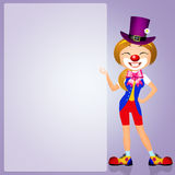 Girl clown Stock Photography