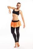 Girl with clown makeup dances Royalty Free Stock Photos