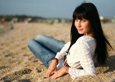 The girl on the coast Royalty Free Stock Photos