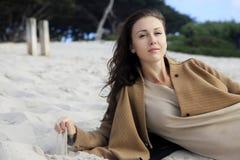 The girl on coastline Royalty Free Stock Image
