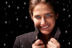 The girl in the coat Royalty Free Stock Photography