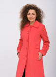 Girl in a coat Royalty Free Stock Images