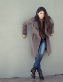 Girl in coat. Stock Image