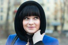 Girl in   coat in   spring. Stock Image