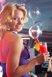 Girl with cocktail Stock Photography